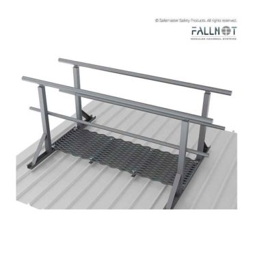 Guardrail- Roof Mounted, Both Sides of Walkway