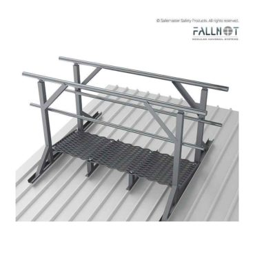 Guardrail- Roof Mounted, Both Sides of Levelled Walkway