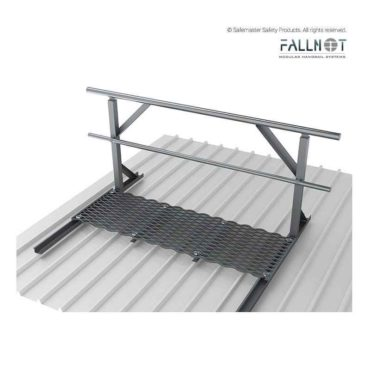 Guardrail- Roof Mounted One Side with Walkway
