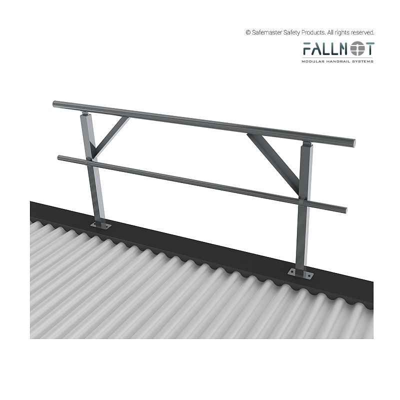 Gs100 Fallnot Guardrail Top Mount Base Plate Safemaster Safety Products