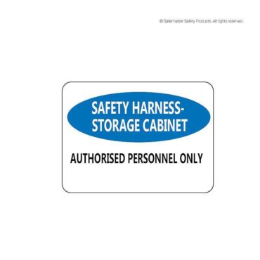 Harness Storage Cabinet Signage