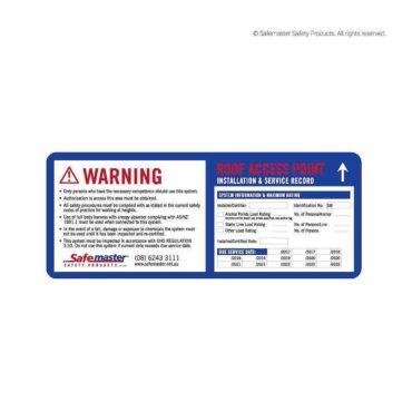 Safemaster- Information Certification Date Signage
