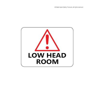Signage- Low Head Room