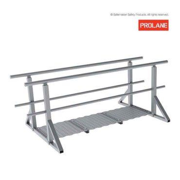 MLS303: PROLANE 2.0M Ladder Head Access Aluminium Walkway/Guardrail Kit
