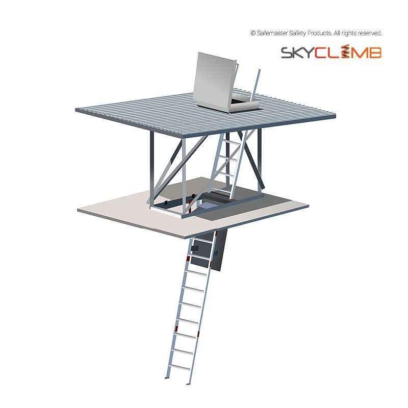 Mls600 Skyclimb Fold Down Ceiling Ladder Amp Space Gate