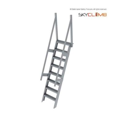 Step Ladder with Vertical Posts