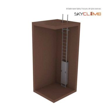 Vertical Line Access Ladder with Extendable Stiles