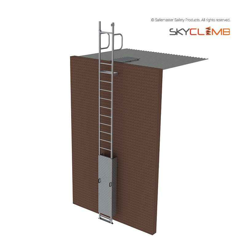 Mls104 skyclimb vertical line access ladder with vertical for Acces vertical