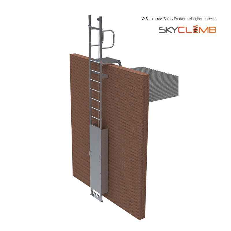 Mls105 Skyclimb Vertical Line Parapet Ladder With