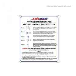 Safemaster- Vertical Static Line Shuttle Instructions Signage