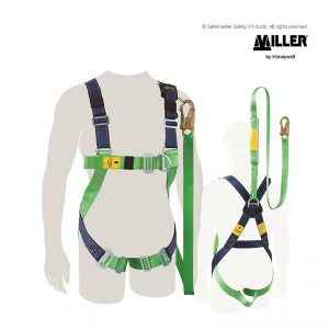 miller contractor value plus harness with integrated lanyard