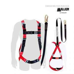 miller fall arrest harness with lanyard