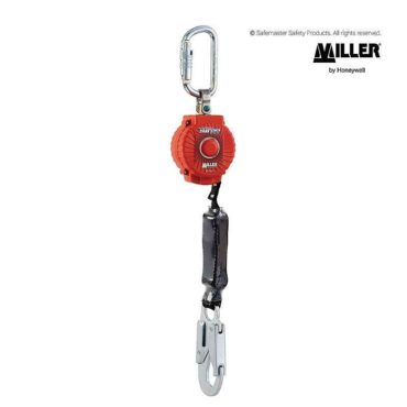 miller turbolite 2m fall arrestor c/w karabiner and snaphook