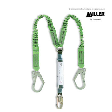 miller stretchable twin lanyard with scaffhooks LD18SEC2.0