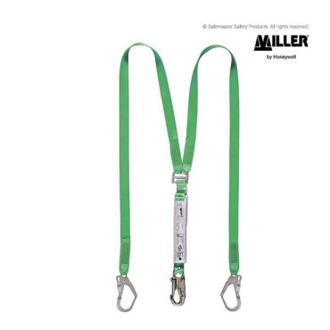 miller twin webbing lanyard with shock absorber LD12WEC2.0