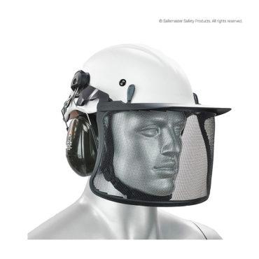 peltor steel mesh visor with peak