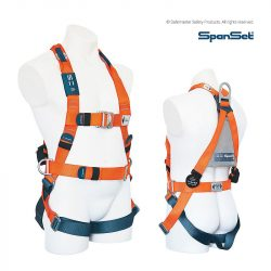 spanset 1300 ergo full body harness with side d rings