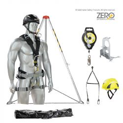 zero confined space kit with type 3 inertia reel / rescue winch