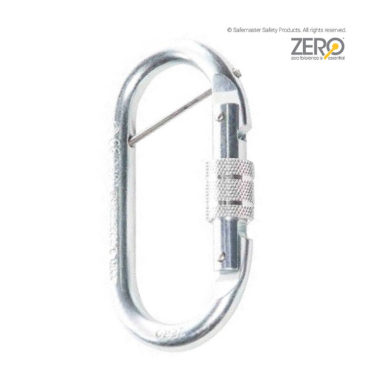 screw gate oval karabiner with captive pin