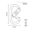 Safemaster-ZERO-Screw Gate Oval Karabiner with Pin-PJ-501P_spec
