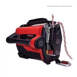 powered rope ascender with charger battery and remote